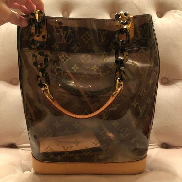 54426ba2b510 Louis Vuitton Handbags - 💯Auth Louis Vuitton Cabas Ambre MM Clear Monogram